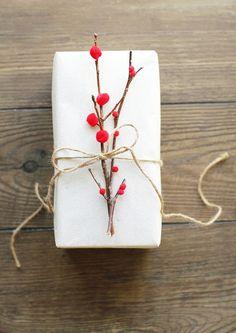 Idee per i pacchetti di Natale - case e interni