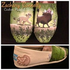 Disney's The Lion King Toms Shoes from ZacharyConnellyArt. Saved to Custom Painted Toms. Cute Shoes, Me Too Shoes, King Tom, Cheap Toms Shoes, Disney Toms, Disney Disney, Painted Shoes, Disney Style, Vintage Shoes