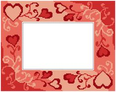 Valentine's day frame with hearts