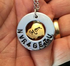 "Cremation Jewelry YOU CUSTOMIZE Stainless Steel Hand Stamped ""Mom Heart"" Pendant Keepsake Memorial Urn Necklace with 20"" Chain."