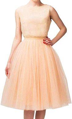 6a418de4b3 Wedding Planning Women s A Line Short Knee Length Tutu Tulle Prom Party  Skirt Small Royal Blue