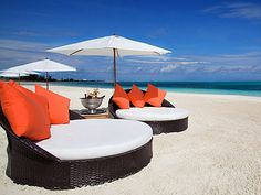 Beach Loungers at the Gansevoort in Turks and Caicos