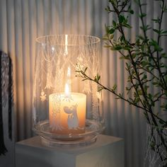 In the Woods lantern/vase 20 cm from Muurla - NordicNest.com Moomin Valley, Dining Table, Table Lamp, Lanterns, Candle Holders, Vase, Candles, Beautiful, Woods