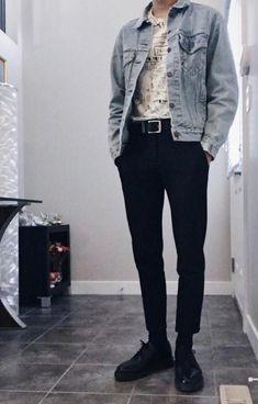 45 Fascinating Vintage Outfits For Men Trend iDeas ? Mode Outfits, Grunge Outfits, Casual Outfits, Fashion Outfits, Fashion Shoes, Fashion Rings, Plad Outfits, Fashion Ideas, Guy Outfits
