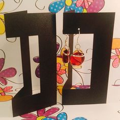 12 Shimmer Earring Display Card, for Craft Shows, Jewelry Shows, Retail Display