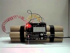 """The Defusable Clock lets you build a scary looking clock that you can actually """"defuse"""". Only the electronics are included -- phony explosives parts not included. You use your imagination to build the device you want! You can get ideas from the gallery of defusable clocks. This product is also available as an electronics kit."""