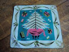 Tammis Keefe Christmas Tree hanky