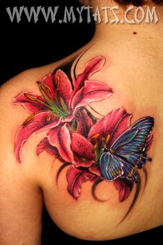 Flower & butterfly. Beautiful colors.
