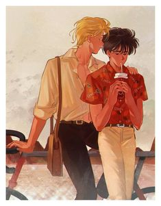 Find images and videos on We Heart It - the app to get lost in what you love. Kill La Kill, Manhwa, Fisher, Manga Anime, Anime Art, Banana Art, Fish Wallpaper, A Silent Voice, Cute Gay Couples