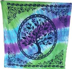 "36"" x 36"" Tree Of Life Altar Cloth - FairyBrook"