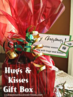 Hugs & Kisses Gift Box with a FREE printable tag via The Dollar Store Diva!