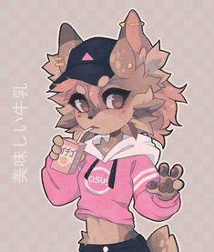 Sip by crispyTyph on DeviantArt Cute Anime Character, Character Art, Animal Drawings, Cute Drawings, Dessin Old School, Chica Gato Neko Anime, Warrior Cats Books, Furry Oc, Furry Girls