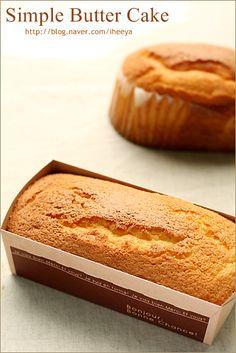 생크림 카스테라 라고도 불리우는.. 카스테라식감의 폭신하고 부드러운 케이크입니다.^^ 심플 버터 케이크 ...