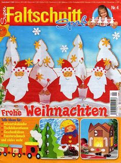 Faltschnitt - Angela Lakatos - Picasa Webalbumok Felt Christmas Ornaments, Christmas Books, Noyeux Joel, Cross Stitch Magazines, Web Gallery, Mini Chandelier, Theme Noel, Book Folding, Tole Painting
