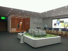 5번째 이미지 Sales Center, Model Homes, Wall Colors, Pavilion, Creative Design, Showroom, Bathtub, The Unit, Architecture Models