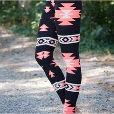 Check out our variety of leggings! Trendy Geometric Print Bodycon Elastic Waist Leggings For Women These super soft comfy leggings are so cute! Made Of polyester. Fits XS-M. See size Chart Below Size Aztec Leggings, Camouflage Leggings, Patterned Leggings, Sports Leggings, Printed Leggings, Colorful Leggings, Leggings Are Not Pants, Leggings Sale, Cheap Leggings