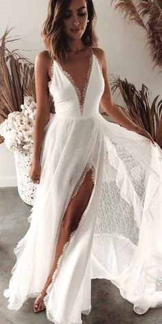 Modern Luxury Grace Loves Lace Wedding Dresses: La Bamba Collection - New Ideas . Modern Luxury Grace Loves Lace Wedding Dresses: La Bamba Collection - New Ideas # Grace Loves Lace, Lace Bridal, Bridal Gowns, Bridal Shower Dresses, White Bridal Shower Dress, Boho Dress, Lace Dress, Tulle Lace, Lace Bodice