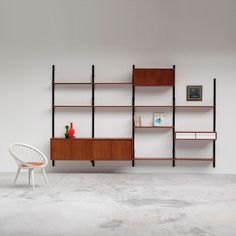 Poul Cadovius : Royal System floating wall unit with dressoir / cabinet