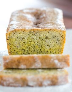 Lemon and Poppy Seed Drizzle Cake - A big pop of flavor and a great non-chocolate winter dessert! | browneyedbaker.com