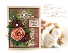 Darise Bruno: Crafting with Darsie: Wishing you happiness... - 5/25/12.  FLOWER RIBBON TUTORIALM  (Pin#1: Tutorials-Flowers.  Pin+: Flowers: 3D/ Dies...).