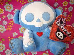 Entertainment SKELANIMALS MARCY The Monkey Blue PLUSH Punk Childrens Goth Toy PLUSHIE Stuffed Animal