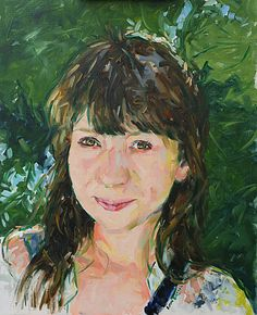 Portrait of my wife Judith in oils on canvas board. Painted from a photograph taken on our honeymoon during a trip to Isola Bella, Lake Maggiore.