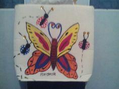 Bolsa para niña con mariposa