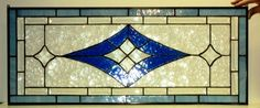 Bevels And Blue Stained Glass Transom     Donna Terrazo/custommade.com