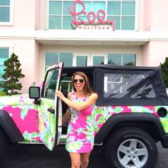 The NEW Lilly Jeep in Pink Lemonade