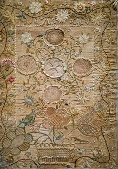 ♒ Enchanting Embroidery ♒ embroidered antique sampler worked by Jane Little in 1793, probably in Chester County, Pennsylvania