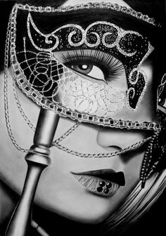 Behind The Mask by *AngelaHillPortraits on deviantART