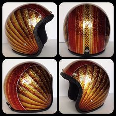 Each helmet sent to us is painted one at a time by hand and is replaced with custom trim (black or chrome) and also has a high quality mirr. Chopper Helmets, Custom Motorcycle Helmets, Cruiser Motorcycle, Motorcycle Accessories, Motorcycle Paint, Women Motorcycle, Honda Motorcycles, Vintage Motorcycles, Cafe Racer Helmet