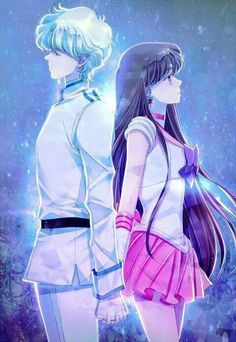 Sailor Moon.  Sailor Mars and Jedite.