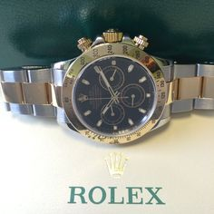 #Preowned The Rolex Daytona Steel & Gold black dial http://www.globalwatchshop.co.uk/rolex-daytona-steel-gold-black-dial-116523.html?utm_content=bufferbb102&utm_medium=social&utm_source=pinterest.com&utm_campaign=buffer In Stock #Available
