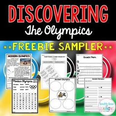 Interested in teaching your students about the 2016 Summer Olympics in Rio? Check out these sampler pages from two of our larger Olympic units! *Ancient vs. Modern Olympics Sort, 2 Graphic Organizers, History of the Modern Olympics reading passage, Word Search, Acrostic Poem. FREE!