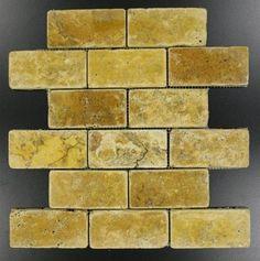 flooring porcelanato Gold / Yellow Tumbled Mesh-Mounted Travertine Mosaic Tiles - Buy Gold / Y. Travertine Mosaic Tiles, Marble Mosaic Tiles, Marble Mosaic, Mosaic Wall Tiles, Decorative Backsplash, Mosaic Tiles, Mosaic, Marble Subway Tiles, Calacatta Gold Marble