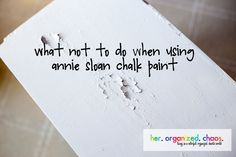 Oh the infamous Annie Sloan Chalk Paint. This stuff is incredible. If you are contemplating using this paint, read this first and learn from my mistake. After much research, I decided that I was re...