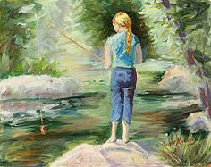 fishing paintings - Google Search
