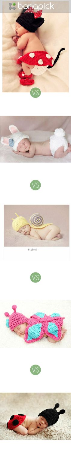 Which looks the coolest costume for a newborn girl to make memorable photo?  at Bonapick.com