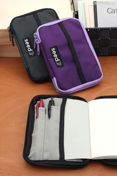 Outfit your A6 size notebooks with a stylish and functional Nock Co. Seed Case, which zips closed for extra protection.
