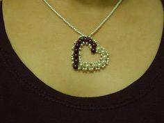Valentine Perline Tutorial: Come rendere piccolo ciondolo cuore con perle |  Bead-Patterns
