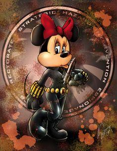 Disney vs Marvel: Minnie Widow by steevinlove.deviantart.com on @deviantART