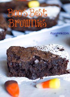 Fudgy, dark chocolate chunk brownies from ItsYummi.com