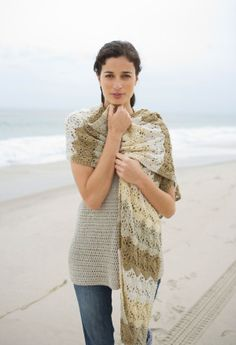 Semi-tropical shawl from Lion Brand.