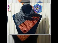 CUELLO COLORES DE LA TIERRA A CROCHET - YouTube Stitch Patterns, Scarves, Cross Stitch, Knitting, Crafts, Youtube, Fashion, Long Scarf, Crochet Batwing Tops