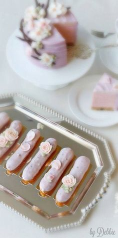 Posh tea o eclairs ~ Debbie ❤ Eclairs, Profiteroles, Eclair Patisserie, Afternoon Tea Parties, High Tea Parties, Cupcakes, Festa Party, Tea Sandwiches, My Tea