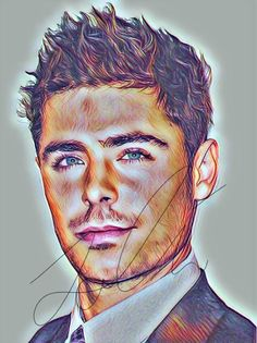 zac efron drawing sketch portrait poster pencil singer drawings drawn coloured