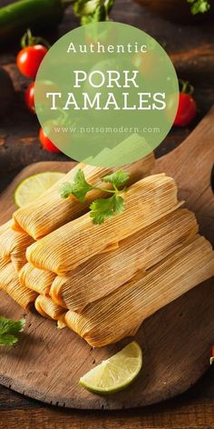 These authentic pork tamales are a must for Mexican families during Christmas time. Use your slow cooker or Instapot to cook your pork loin ahead of time to make it tender and moist. Then wrap the fil Homemade Tamales, Homemade Salsa, Mexican Dinner Recipes, Mexican Dishes, Mexican Desserts, Mexican Cooking, Pozole, Nachos, Empanadas