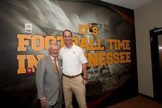 The Legends of UT football. John Ward and Peyton Manning. #govols #VFL #tennessee #legends