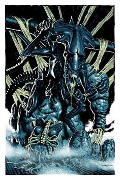 Cool Art: 'Aliens' by Jason Edmiston